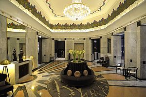 Interior design - The lobby of Hotel Bristol, Warsaw