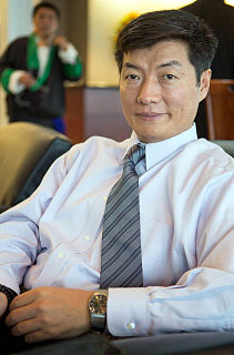 Lobsang Sangay Prime Minister of the Tibetan Government in Exile