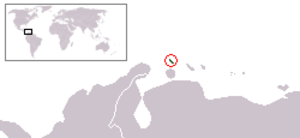 Outline of Aruba - The location of Aruba