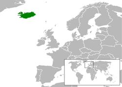 Location of Iceland