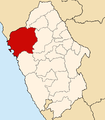 Location of the province Santa in Ancash.PNG