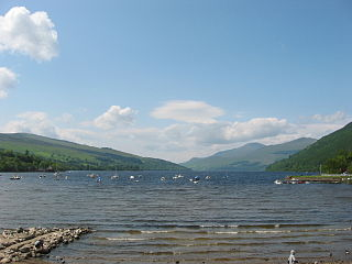 Loch Tay lake in the United Kingdom