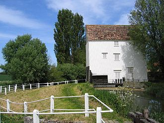 Anglesey Abbey - Lode Mill, situated on the edge of the gardens