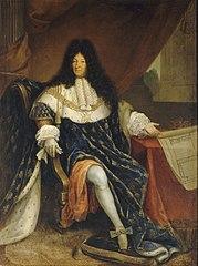 Louis XIV tenant le plan de la maison royale de Saint-Cyr
