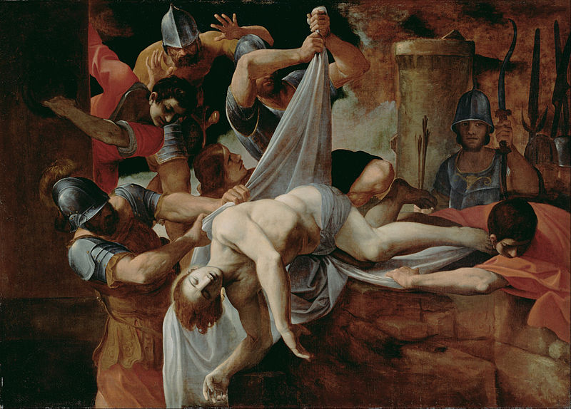 File:Lodovico Carracci (Italian - St. Sebastian Thrown into the Cloaca Maxima - Google Art Project.jpg
