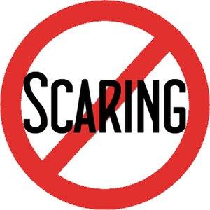 """Español: Logotipo """"Scaring"""" contra e..."""