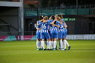 Football in Sussex - Brighton & Hove Albion became Susssex's first women's full-time professional football club in 2018