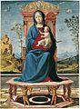 Lorenzo Costa - La Vergine e il Bambino in trono (Museo Thyssen-Bornemisza).jpg