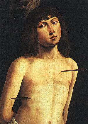 http://upload.wikimedia.org/wikipedia/commons/thumb/9/92/Lorenzo_Costa_-_Saint_Sebastian.jpg/300px-Lorenzo_Costa_-_Saint_Sebastian.jpg