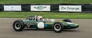 Lotus 33 - Image: Lotus 33 Climax Jackie Stewart at Goodwood Revival 2013 001