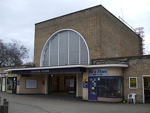 Loughton tube station - Station entrance