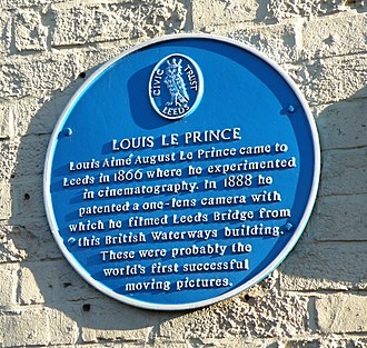 Louis Le Prince - The plaque in Leeds