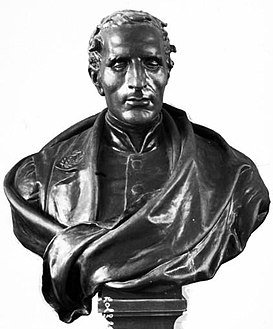 Bust of Louis Braille by Étienne Leroux, Bibliothèque nationale de France