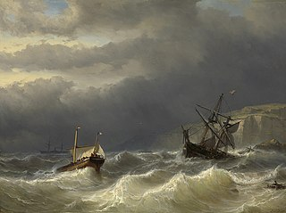 Storm in the Strait of Dover