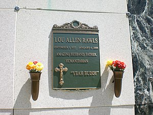 Lou Rawls - Lou Rawls's tomb at Forest Lawn Memorial Park (Hollywood Hills)