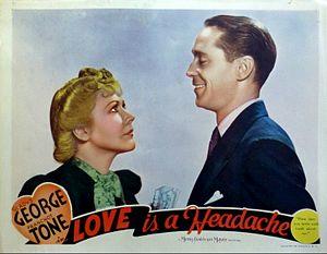 Love Is a Headache - Lobby card
