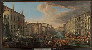 Une régate sur le Grand Canal en l'honneur de Frederick IV, roi du Danemark