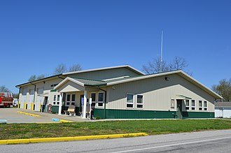 Luce Township, Spencer County, Indiana - Township hall and fire station in Richland City