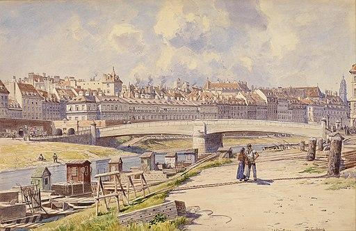Ludwig Hans Fischer Fischerboote am Donaukanal Wien 1855