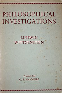 Ludwig Wittgenstein - Philosophical Investigations, 1953.jpg