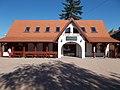 Lumber yard train stop building Szalajka Valley, Szilvásvárad, 2016 Hungary.jpg