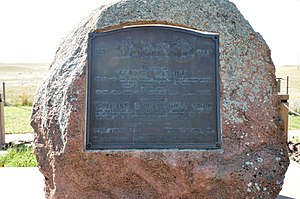 National Register of Historic Places listings in Niobrara County, Wyoming - Image: Lusk WY George Lathrop Memorial