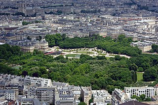 Jardin du Luxembourg urban park in Paris, France
