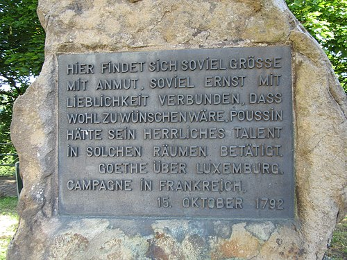 Luxembourg plaque