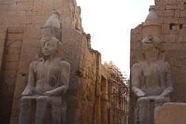 Larger Than Life Structures Remain At The Ancient Egyptian Luxor Temple  Approximately 3400 Years After It Was Built.