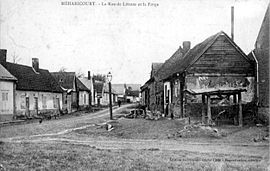 A 1905 view of Méharicourt