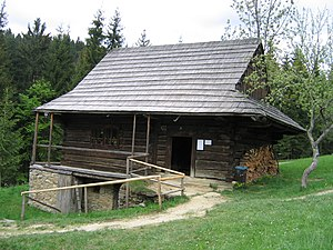 Nová Bystrica - House in the open-air museum of Kysuce village