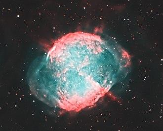 Dumbbell Nebula - Image: M27crop