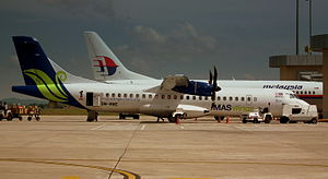MAS WINGS ATR72 9M-MWE AT MIRI AIRPORT SARAWAK ISLAND OF BORNEO JUNE 2011
