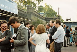 Conservative Monday Club - Members gather for the club's 20th anniversary riverboat party organised by the Young Members' Group, 15 July 1981.