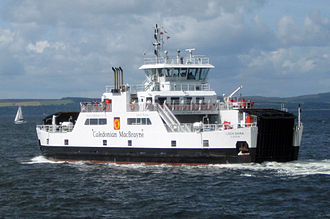Caledonian MacBrayne - Loch Shira departing Largs