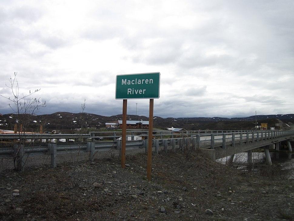 MacLaren River crossing the Denali Highway