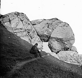 "Glens of Antrim - The ""Madman's Window"" as described, ca. 1860"