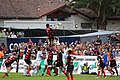 Maestri fields the ball during a line out.jpg