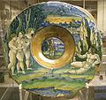 Maestro giorgio di gubbio, piatto con giudizio di paride, 1524.JPG