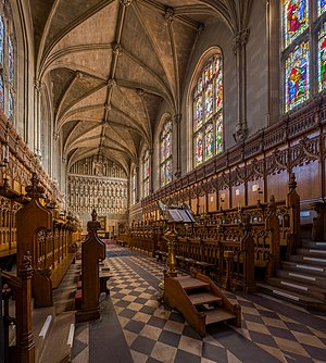 Magdalen College, Oxford - The interior of the chapel