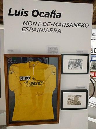 Luis Ocaña - Ocaña's yellow jersey, 1973 Tour de France.