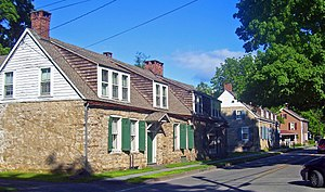 Hurley Historic District - Stone houses along Main Street