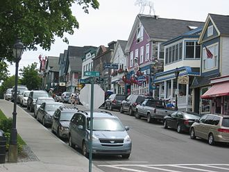 Bar Harbor, Maine - Main Street in Bar Harbor (2008)