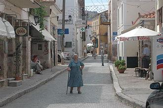 Galaxidi - Street of the town.