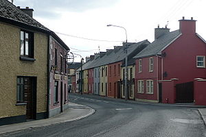 Clarecastle - Main street in Clarecastle in 2010