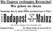 Mainz 05 - Vasas Budapest (1920)