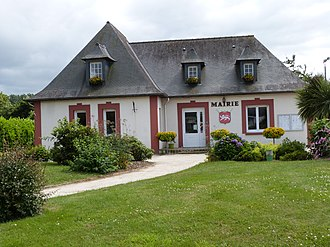 Bréhand - The town hall of Bréhand