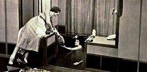 Julia Faye - Faye as Gloria Swanson's maid in DeMille's Male and Female (1919)