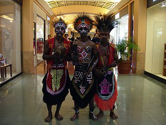 Papuan people - Image: Mall culture jakarta 102
