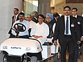 Manmohan Singh during the inaugural function of the New Integrated Terminal (T2), at Chhatrapati Shivaji International Airport, in Mumbai. The Governor of Maharashtra.jpg